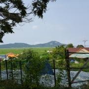 느티나무에서 바라본 마을 모습과 건너편 마을
